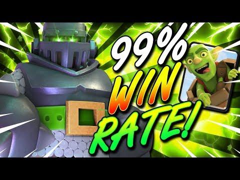 99% WIN RATE!! BEST MEGA KNIGHT BAIT DECK IN CLASH ROYALE!! OP!!