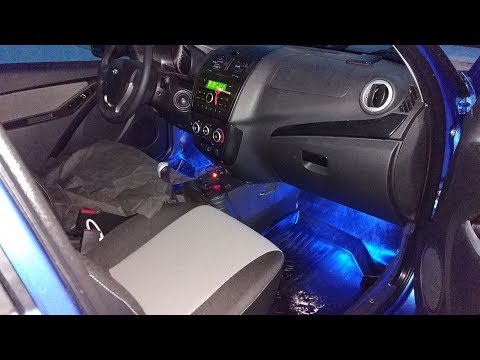 Комплект RGB подсветки в салоне автомобиля. Видео после установки. By Aliexpress.