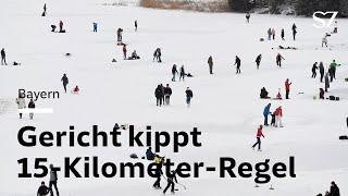 15-Kilometer-Regel in Bayern gekippt