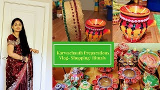 Karwachauth Pooja /Shopping Preparations 2017- Vlog l Reallife Realhome