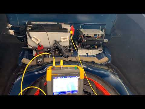 2009 Jaguar XK Battery Draw Test With FLUKE 190 204!!