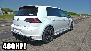480HP Volkswagen Golf 7 R HGP Turbo - Exhaust Sounds & Top Speed Run!