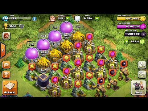 Super CLASH OF CLANS - MOST RESSOURCES EVER - MORE THAN 18 MILLION  KO71