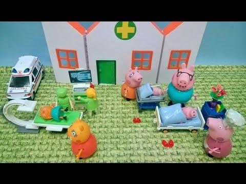 Bajka Świnka Peppa po polsku. Peppa i George w szpitalu!