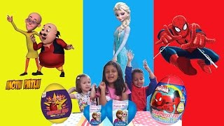 Motu Patlu Surprise eggs, Spiderman Surprise Eggs, Frozen surprise Eggs | Motu Patlu Movie 2016