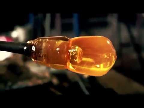 Glass making @ Bristol Blue glass James Adlington Master Glass maker