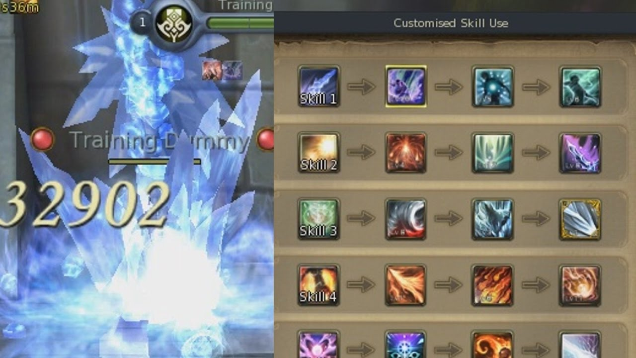 Aion 6. 2 best sorcerer pve customised skill use youtube.