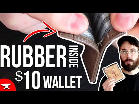 Amazon Wallet - (Leather Review) - Rubber Inside Cheap Wallet