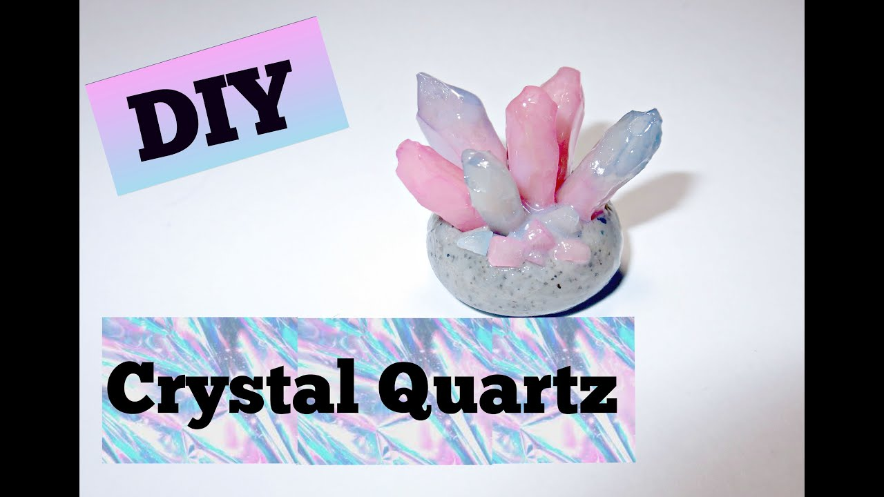 Diy Crystal Quartz In Stone Polymer Clay Tutorial Youtube
