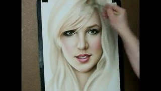 Speed painting portrait Britney Spears thumbnail