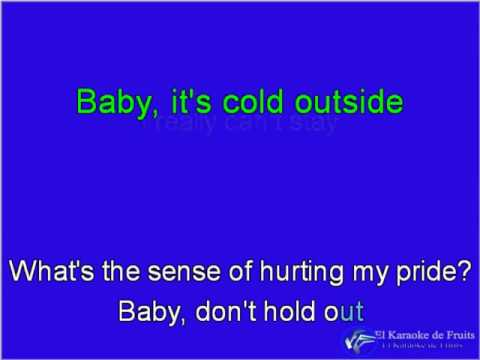 Karaoke Baby It's Cold Outside Idina Menzel ft, Michael Buble Mp3