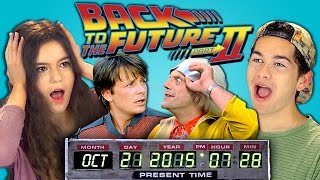 Teens React to Back to the Future 2 (Marty McFly arriving on October 21st, 2015)
