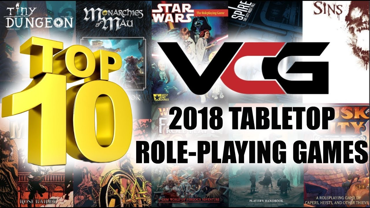 TOP 10 TABLETOP ROLE-PLAYING GAMES OF 2018
