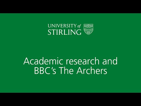 Academic research and The Archers