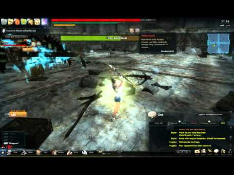 Vindictus - Pre-Revamp Staff Evy Solo - Nightmare at the Ruins - Laghodessa