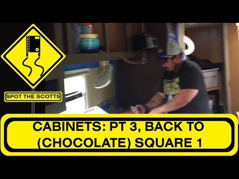 Travel Trailer Renovations: Cabinets Part 3   CHOCOLATE Rustoleum Cabinet  Transformations {#62}