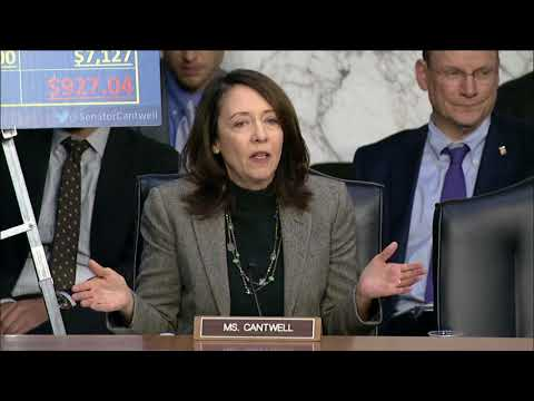 Cantwell Questions Republican Tax Proposal that Raises Taxes on Middle-Class Families in Washington