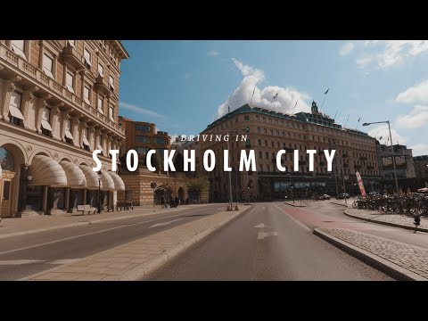 Stockholm 4K Drive - Capital of Scandinavia - Driving Downtown