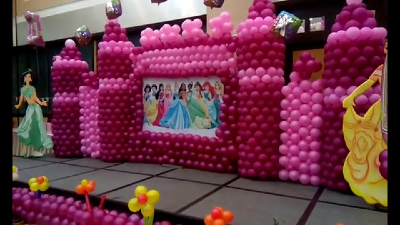 Birthday Theme Decoration Ideas Part - 35: Castle Themed Party Decorations Birthday Party Theme Decoration Ideas For  Girls 09891478183