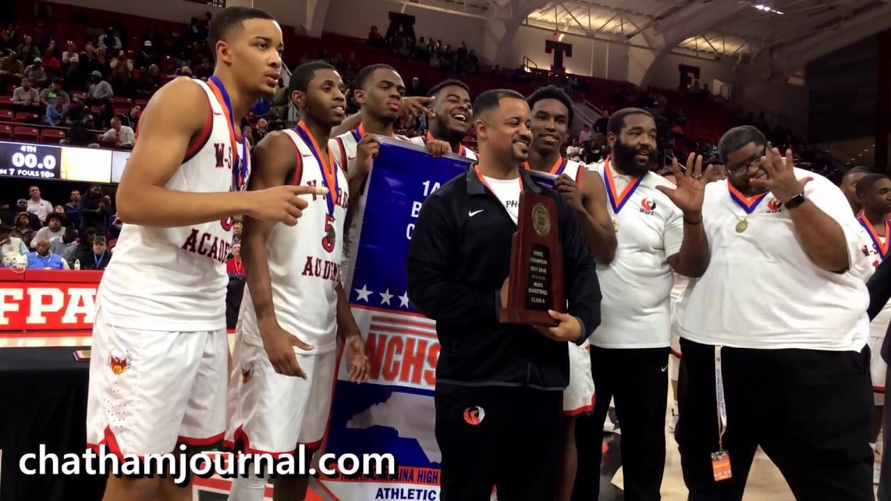 Winston-Salem Prep players receive 2018 1A basketball championship medals