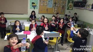 Okulumuz 1. sınıf öğrencileri laboratuvar dersinde roket isimli fen deneyini yaptılar