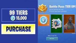 ACHETER CHAQUE SEASON 4 BATTLE PASS TIER à Fortnite: Battle Royale