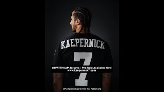 Colin Kaepernick's #ImWithKap jerseys SOLD OUT hours after going on sale...