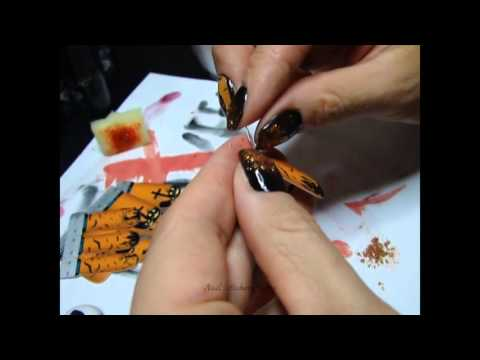 halloween-nail-art-tutorial-using-semilac-031,-142,-045-and-nail-stickers