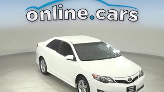 A13008WT Used 2013 Toyota Camry FWD 4D Sedan White Test Drive, Review, For Sale