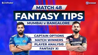 Mumbai v Bangalore Team Prediction, 11Wickets Fantasy Cricket Tips, Indian T20 League,11Wickets Tips