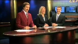 Ron Burgundy Stops By Bismarck News Station