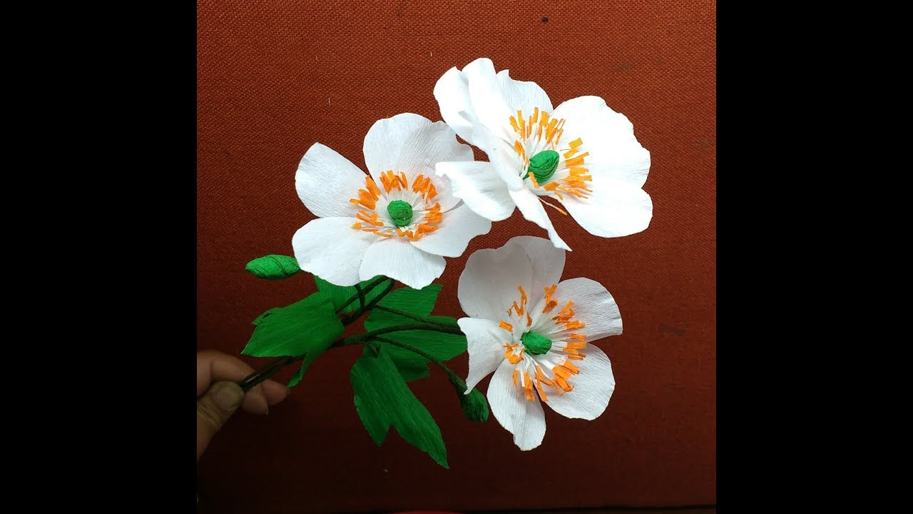 How to make Crepe Paper Flowers Japanese Anemones ...