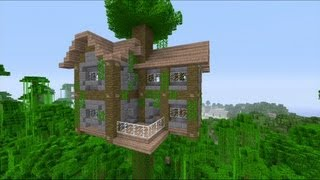 How to build a large jungle tree house in minecraft