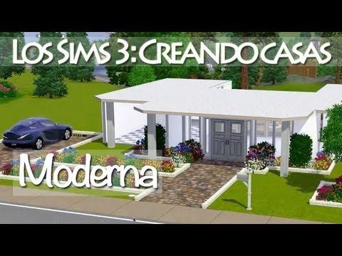 los sims 3 construyendo casas moderna peque a y