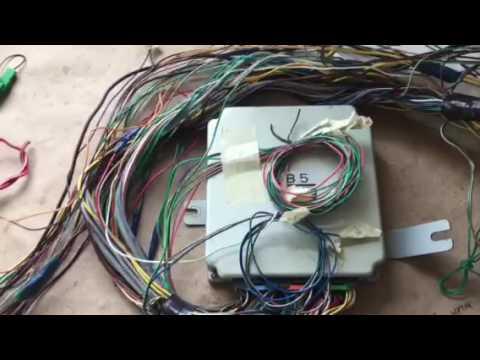 2001 Subaru Impreza 25rs VW wiring harness conversion - YouTube