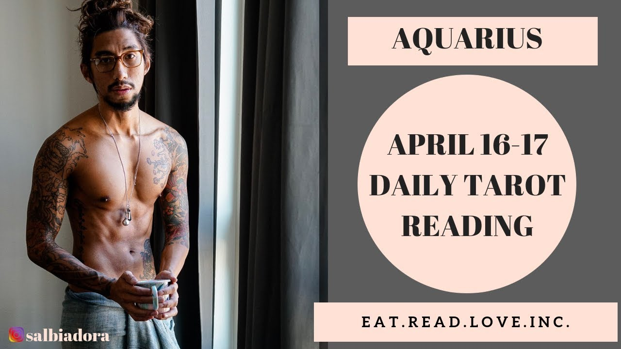 """AQUARIUS - """"BE READY IT'S COMING YOU WILL NEED THIS"""" APRIL 16-17 DAILY  TAROT READING"""
