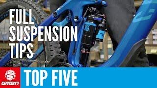 Top Five Full Suspension Mountain Bike Maintenance Tips