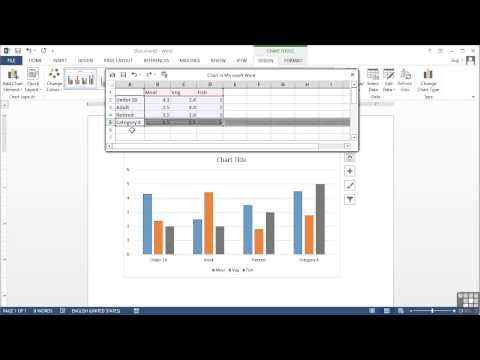 Microsoft Word 2013 Tutorial | Inserting A Chart