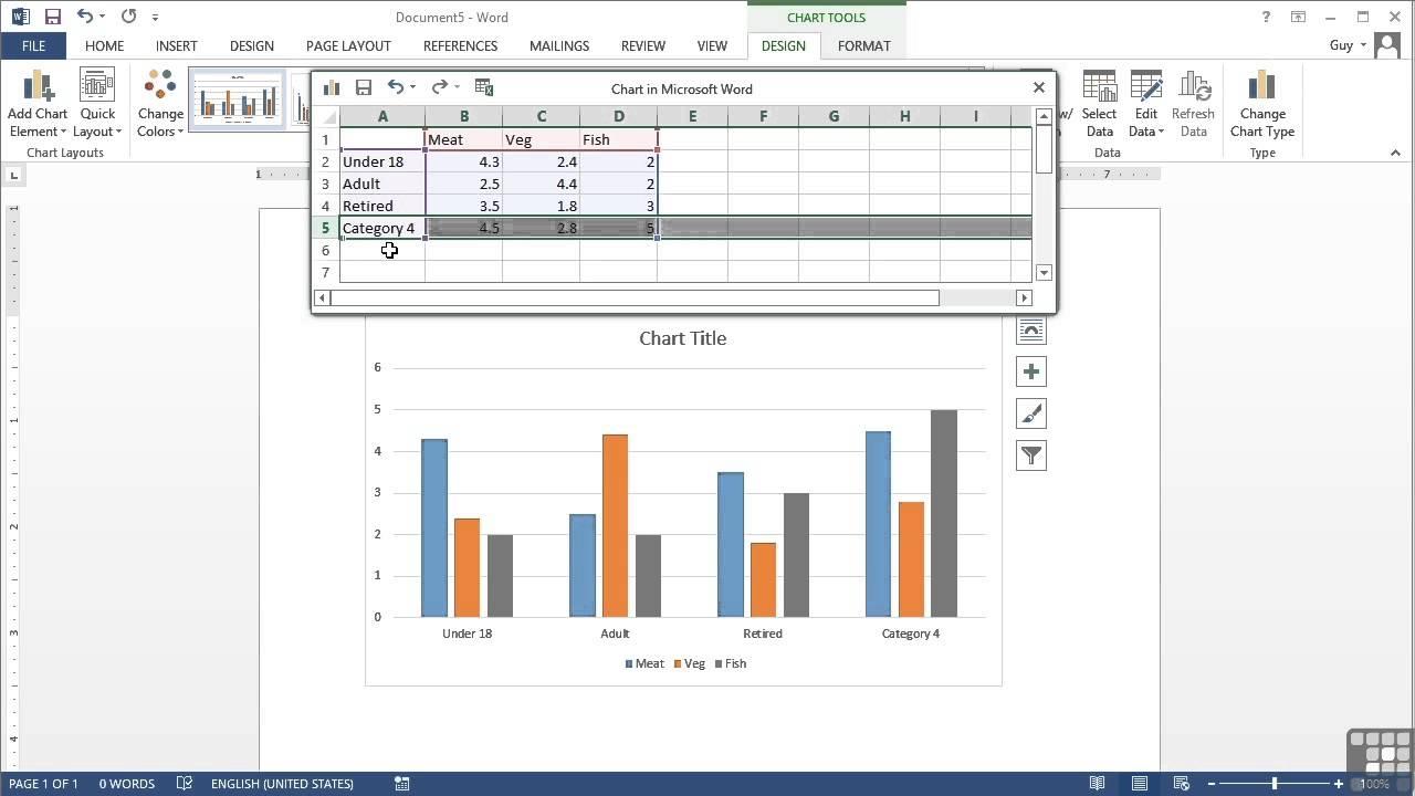 also microsoft word tutorial inserting  chart youtube rh