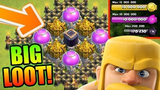 Clash Of Clans - INSANE AMOUNTS OF LOOT!! - UPGRADING NEW DEFENSES AND HERO'S 2016!