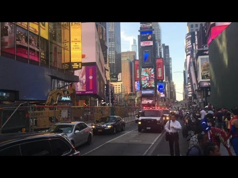 Friday Night In NYC   NYPD & FDNY Responding, Turkey Protest, Naked Girls & Accident In Times Square