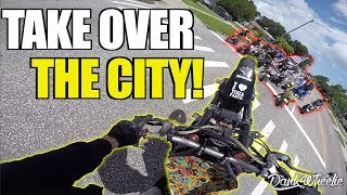 Huge Motorcycle Rideout - Beach Takeover With The Grom Squad!