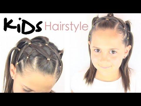 Peinado para niñas | coletas cruzadas - YouTube