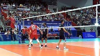 Волейбол. Нападающий удар. Сборная России и сборная Ирана. Часть. 2