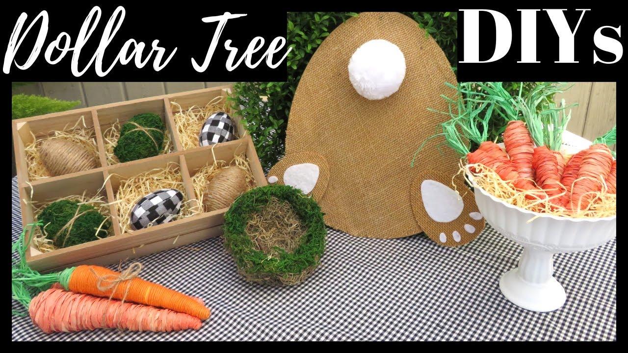 Dollar Tree Farmhouse Easter Decor Diys Youtube