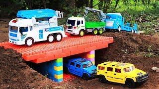 Build Bridge Blocks Toys For Kids Construction Vehicles Toys for Children | Wheelloader ,Dump truck
