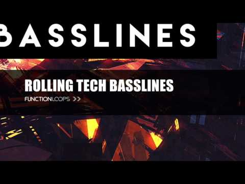 ROLLING TECH BASSLINES - Sample Pack | Techno & Tech House Bass Loops, MIDI & Samples