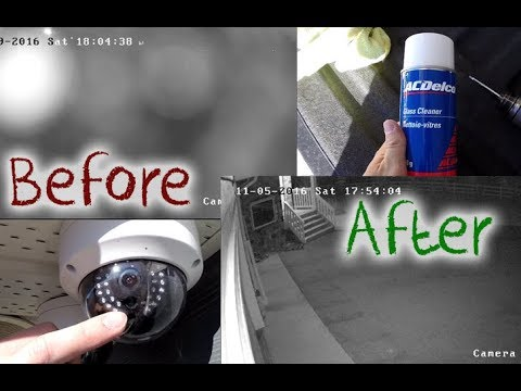 How to Clean your HIKVISION Dome Security Camera - Prevent Glare