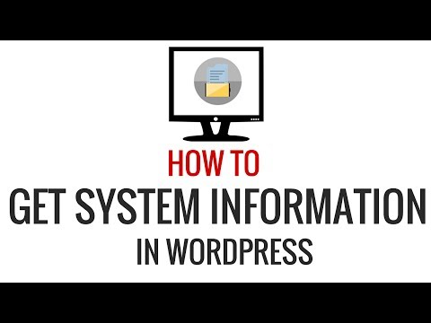 How to Quickly Get System Information for Your WordPress Site - 동영상