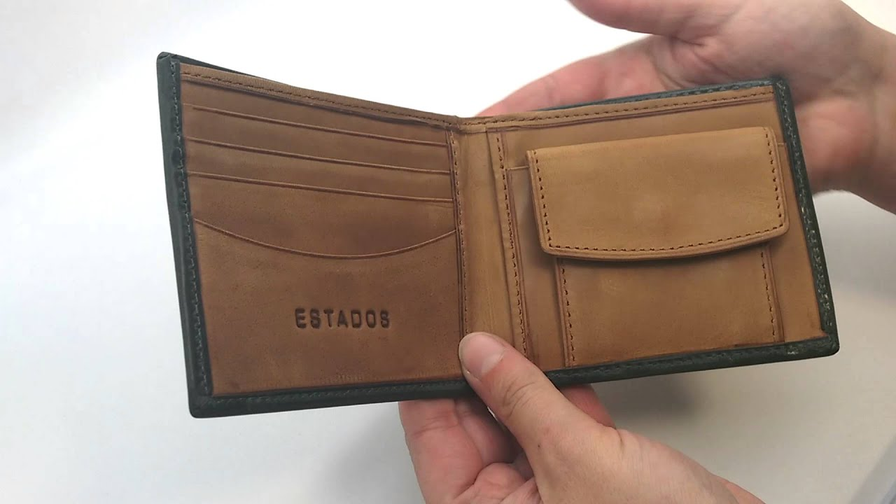 Estados Mens Leather Mini-Wallet